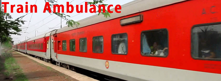 train ambulance delhi